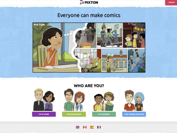 make an online comic book