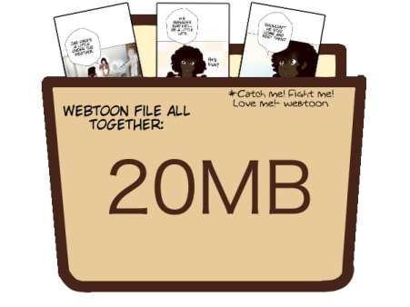 webtoon file size