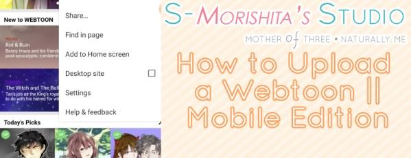 how to upload webtoon on phone