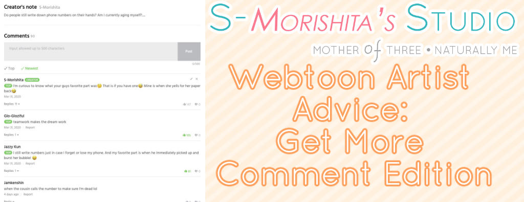 Webtoon Artist Advice: Get More Comment Edition