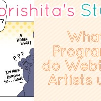 What programs do Webtoon artists use?