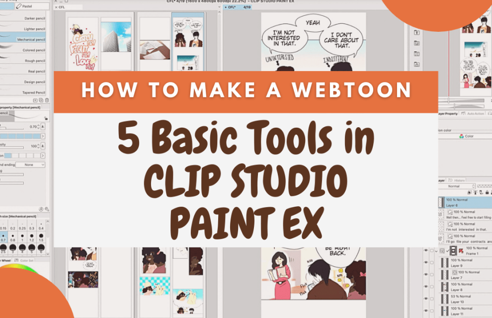 How to Make a Webtoon : 5 Basic Tools for Beginners & Creating the Canva Size