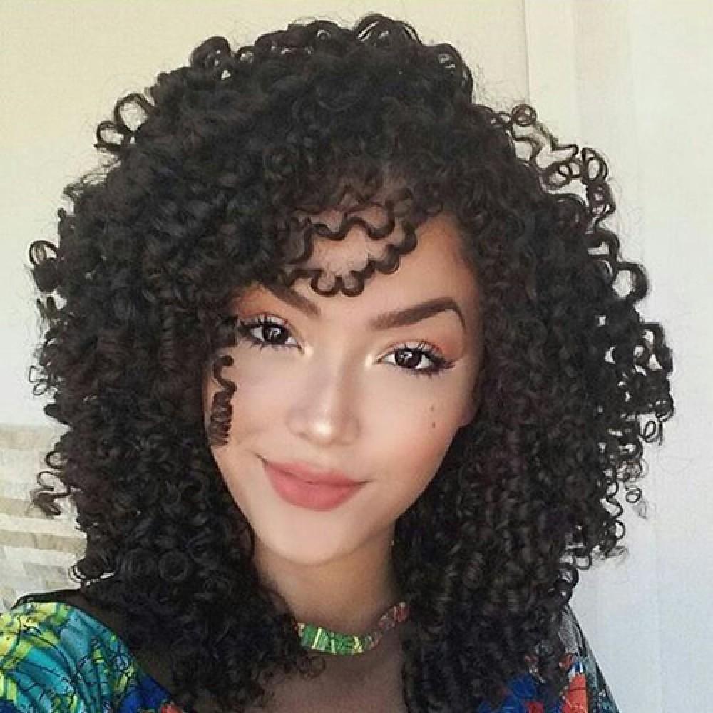 12 Inch Deep Curly Brazilian Virgin Lace Front Wigs 160g