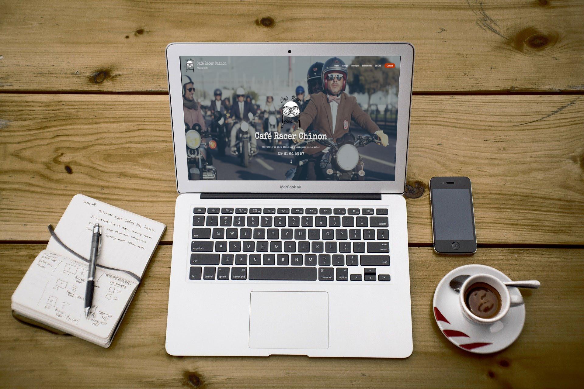 Café Racer Chinon - site internet