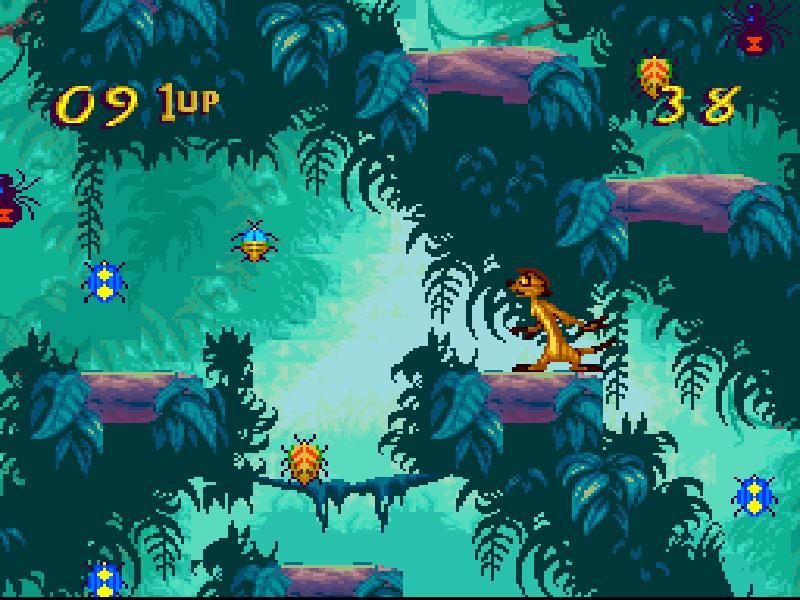 Image result for The Lion King SNES Bug