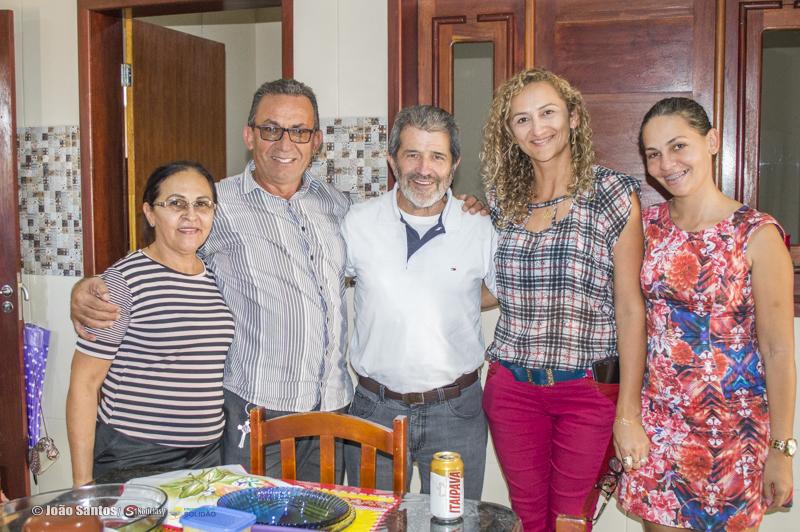 Gonzaga na residência do Prefeito Djalma Alves