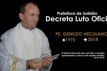 Prefeito de Solidão decreta luto oficial pela morte do Pe. Genildo Herculano