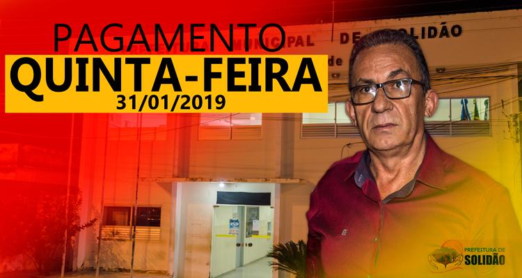 Prefeito Djalma Alves confirma pagamento de janeiro 2019