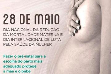 28 de maio - Dia Nacional de Luta pela Redução da Mortalidade Materna