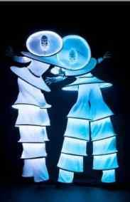 animation déambulation LED lumière