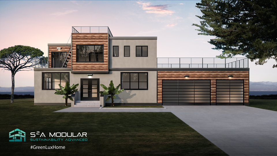 Model 22 – 2,378 sq. ft. 2 Story – 3 Bedroom, 3 ½ Bath, Panoramic doors, mult. Roof decks – Modern