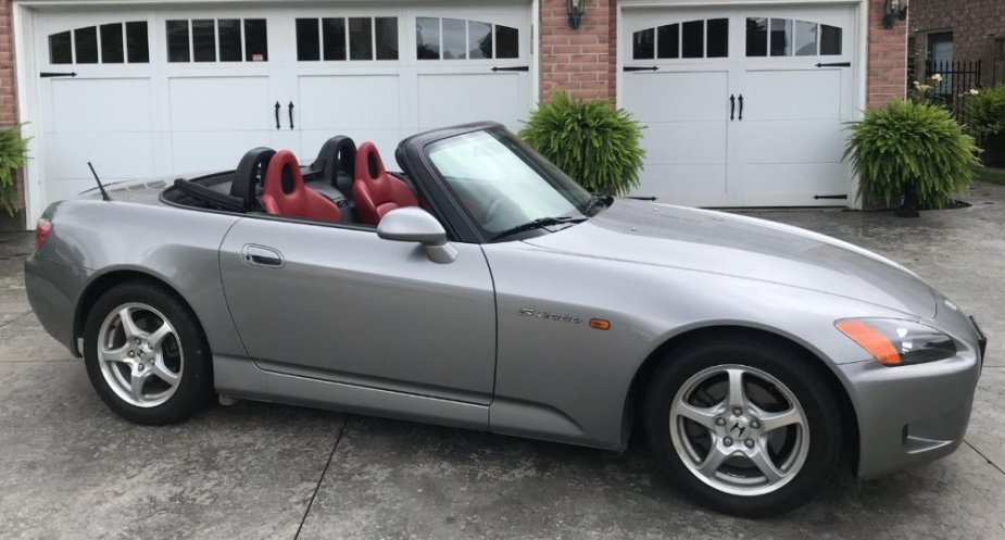 2001 Honda S2000 Front Side Top Down