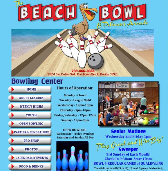 website design, beach bowl, s2r studios