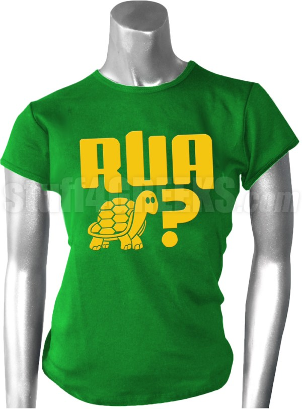 Are You A Turtle? Kelly Green T-Shirt with Gold Screen ...