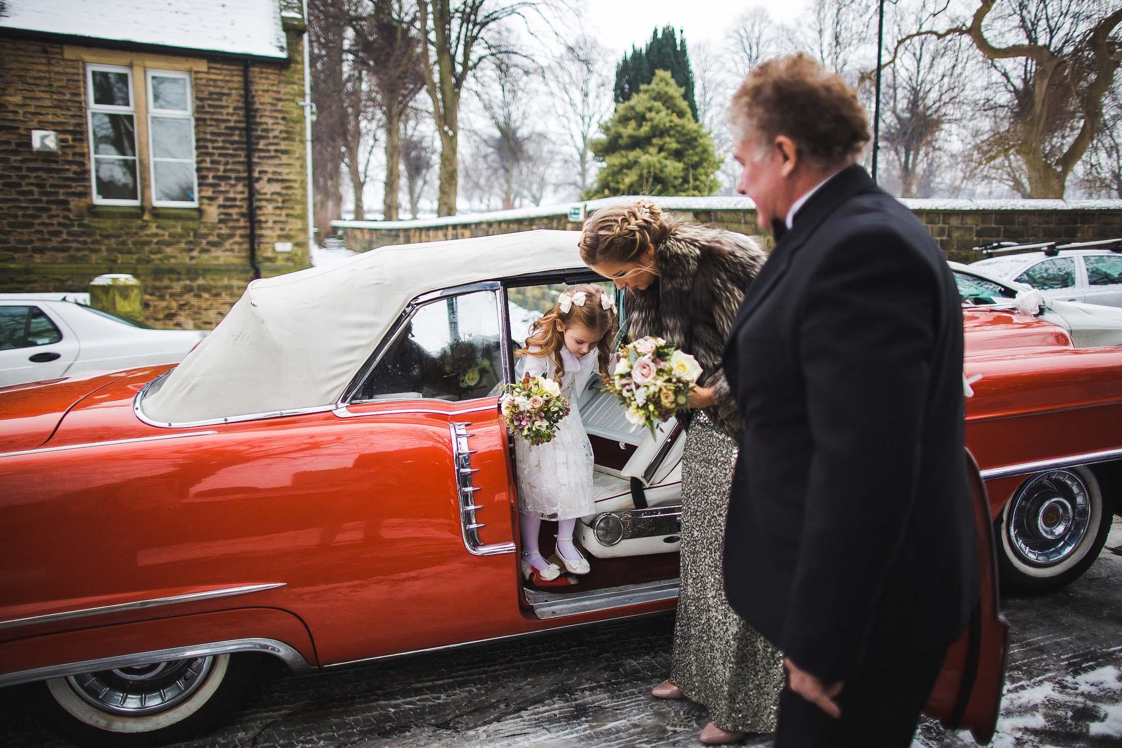 cool wedding car