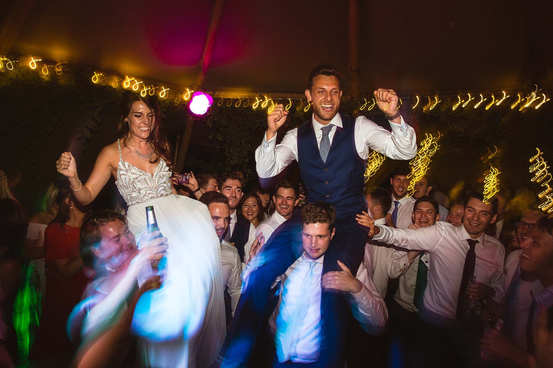 party wedding photos