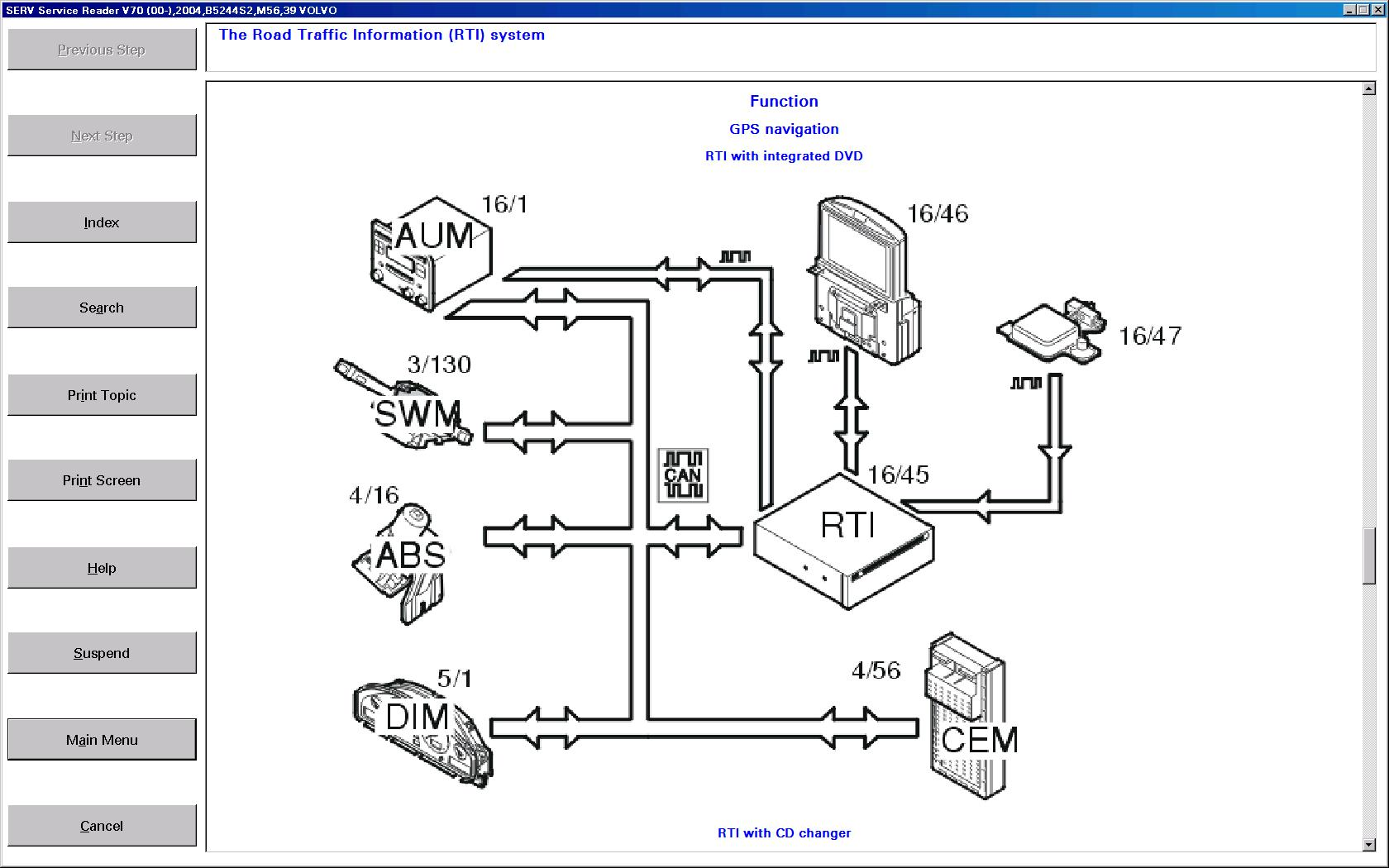 wiring diagram volvo v70
