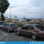 Waiting for the ferry in Travemünde.