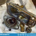 Taking apart the Lockheed brake master cylinder.