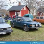 The brown one is a Saab 99 Petro - the first flex-fuel Saab.