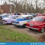 Saab rally cars.