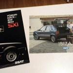 Seat Ibiza SXI ja Seat Ibiza -esitteet. 5 € / tarjous.