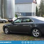 Saabs on a farm. The meeting was held at the farm of a Saab enthusiast.