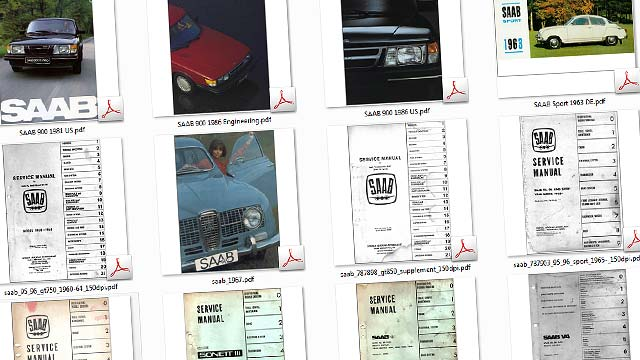 Saab service books and spare parts catalogues online