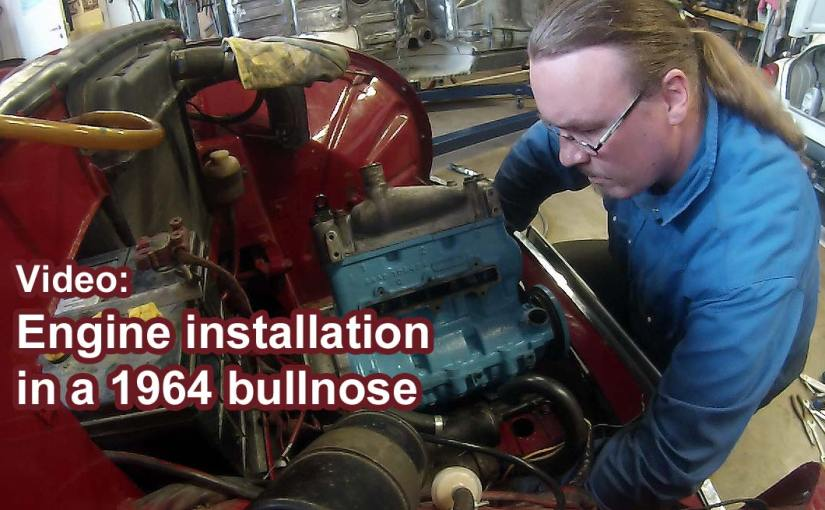 Video of installing the engine in a Saab 96 two stroke 1964