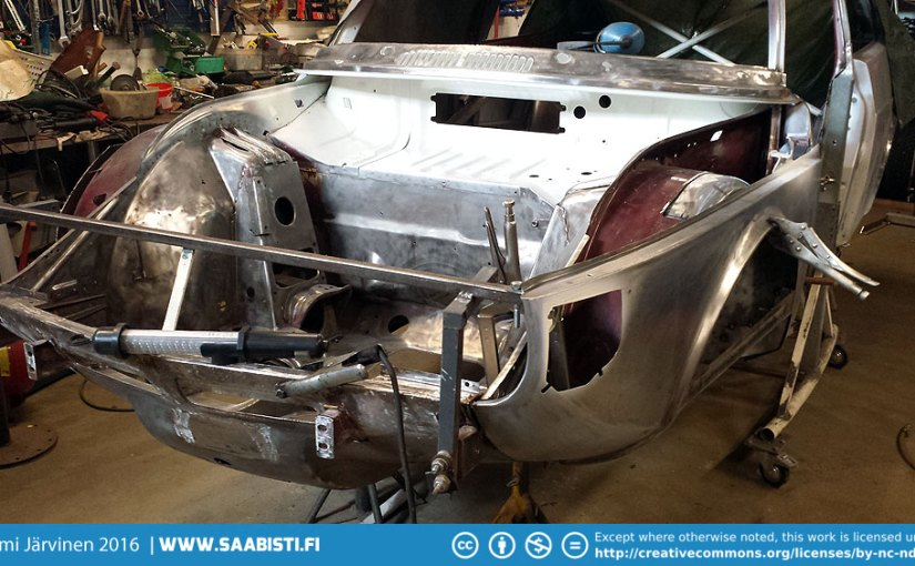 Saab 99 Turbo part 9 – front section welding