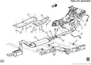Genuine Saab 97x Front Oxygen Sensor  Pos1 (42l)