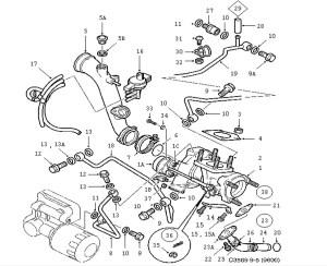 Supercharging system, Turbocharger 4 Cylinder
