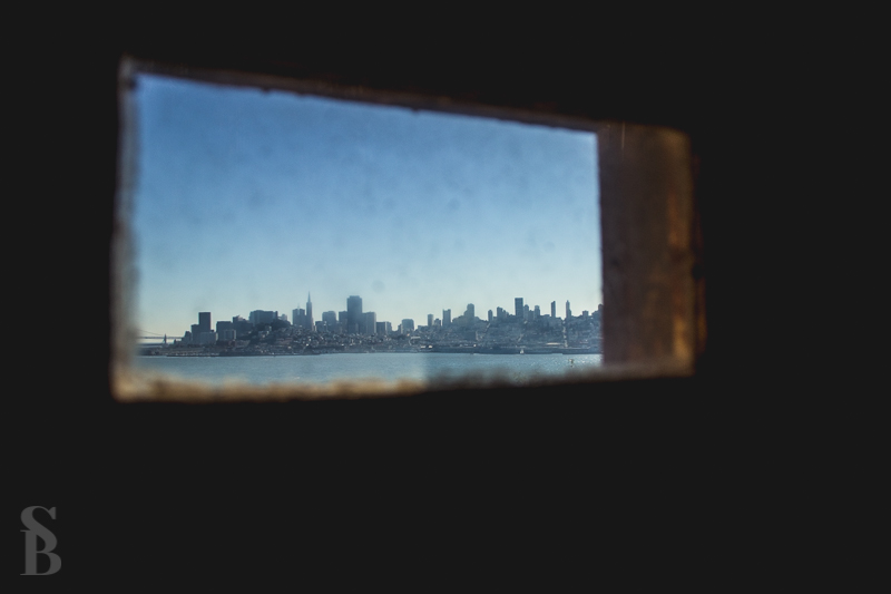 The city view from Alcatraz