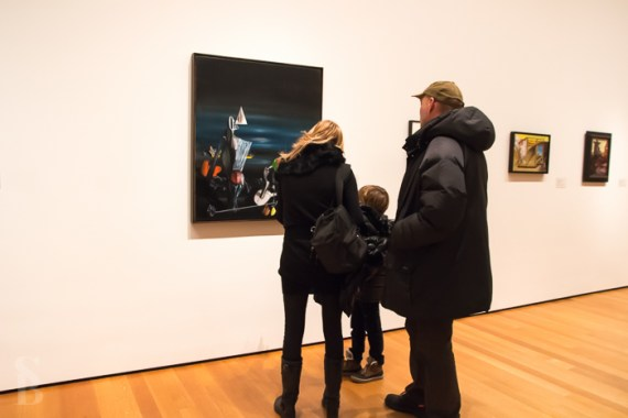 People Looking At Modern Art