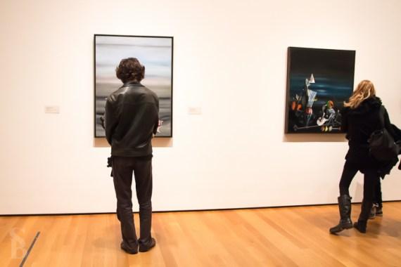 People Looking At Modern Art