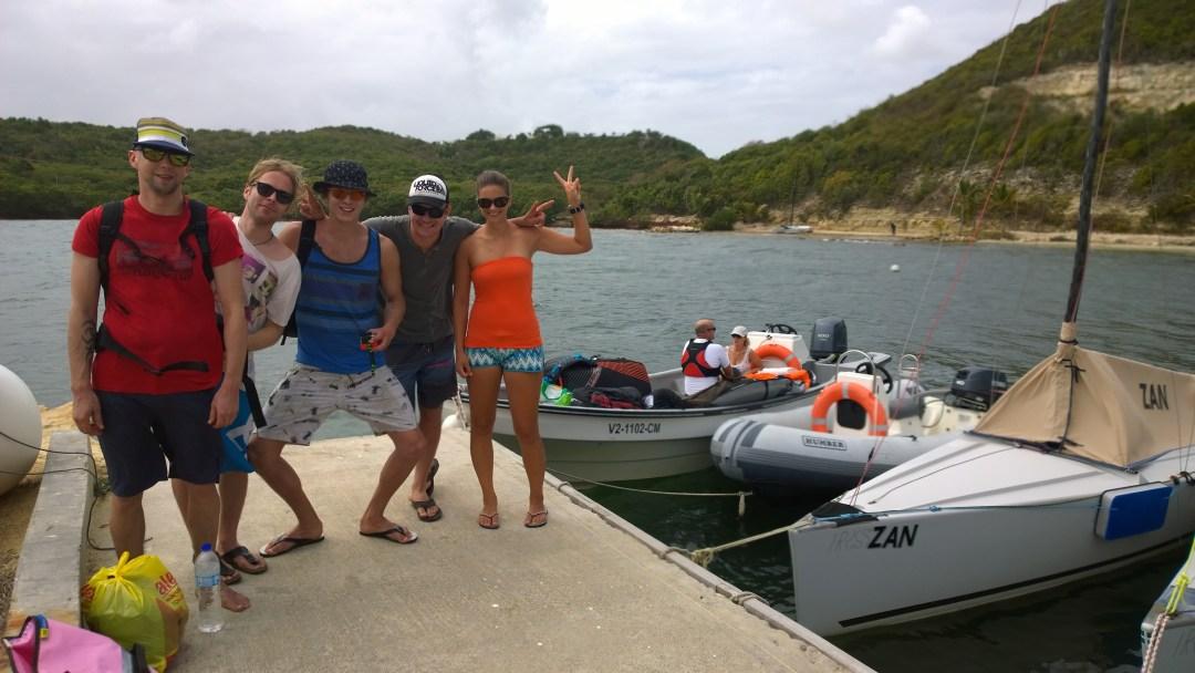 Lähdössä kiteilemään pienelle saarelle Antigualla!
