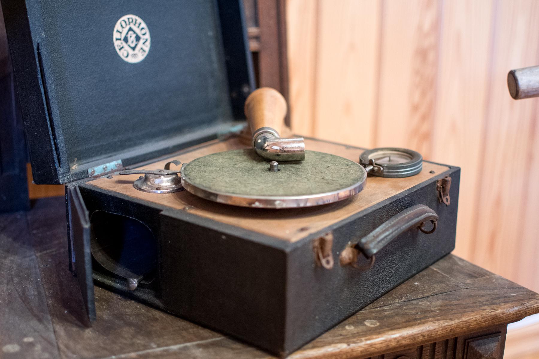 Tällä levysoittimella on joskus pidetty yllä kunnon tansseja!