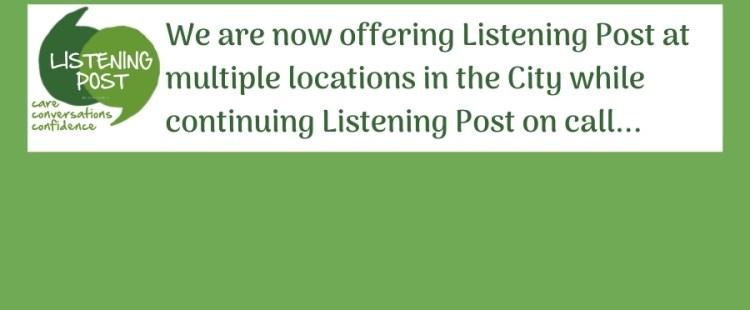 Resuming Listening Post walk-ins!