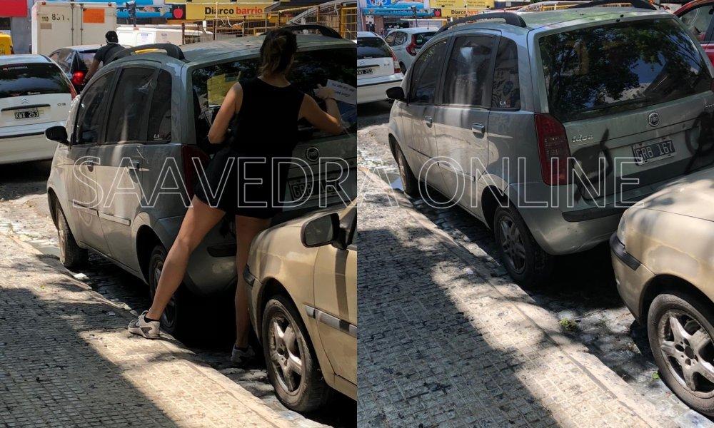Furia en Manuela Pedraza y Cabildo por un auto estacionado frente a un garaje - Saavedra Online