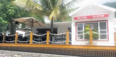 The Island Flavor restaurant next to the tax office. (Photo The Daily Herald)