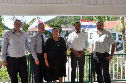 Commissioner, Bruce Zagers; Island Governor, Jonathan Johnson; Advisor to the Island Secretary, Raquel Granger; Island Secretary, Tim Muller; Commissioner, Chris Johnson