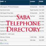 saba telephone directory
