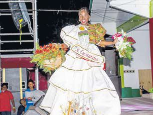 Miss Statia Sherees Timber, winner of the Culture Wear section. (STK photo)