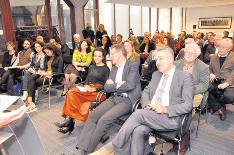 The symposium at the Leiden University Libraries on Saturday. (Suzanne Koelega photo)