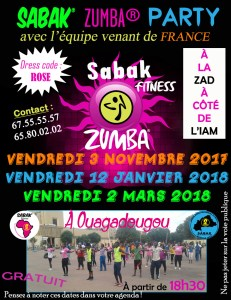 SABAK ZUMBA PARTY à OUAGADOUGOU