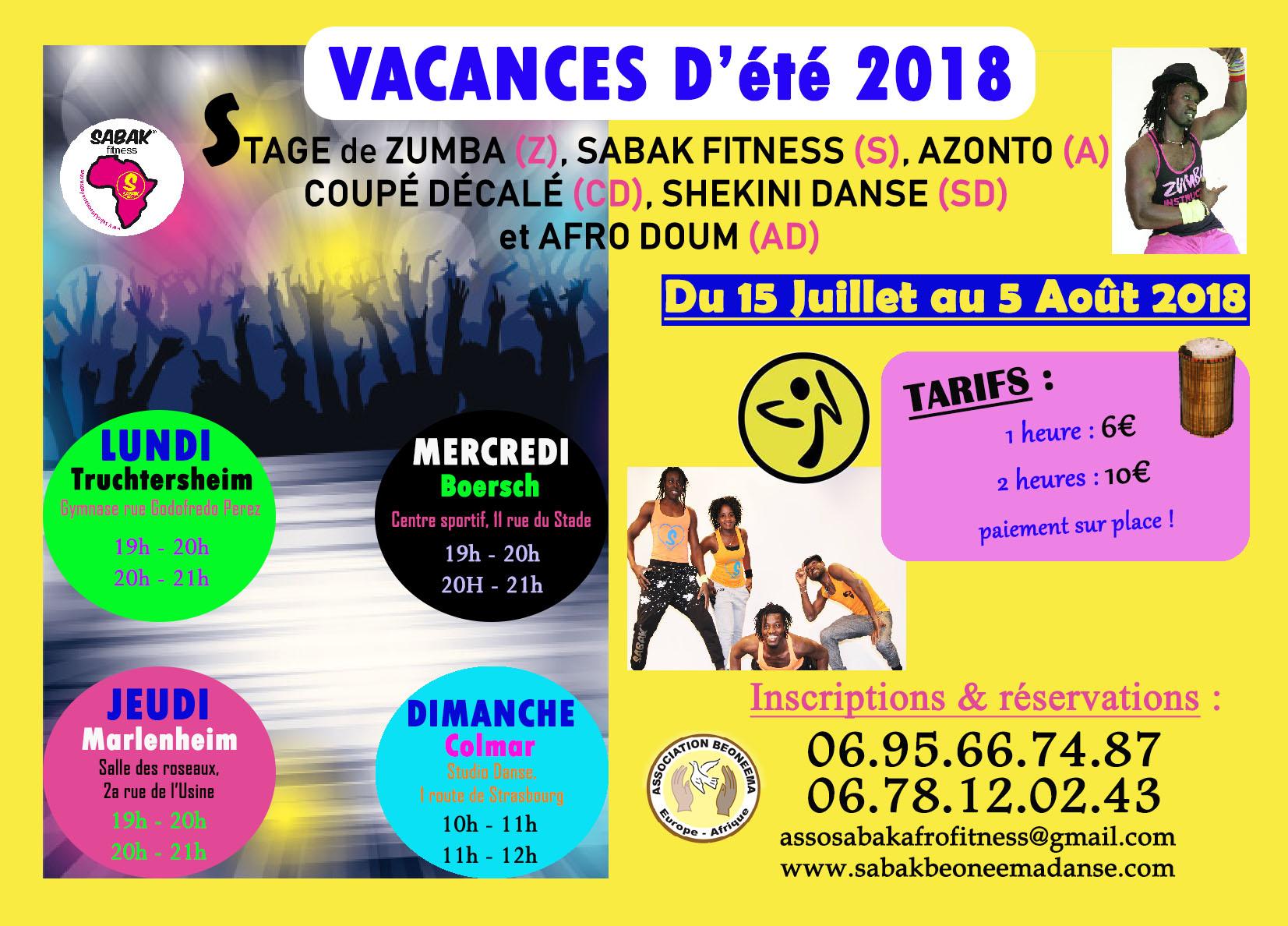 STAGE D'ÉTÉ 2018