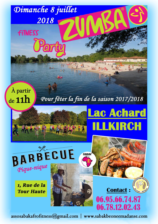 ZUMBA PARTY AU LAC ACHARD, FIN DE SAISON 2017-2018