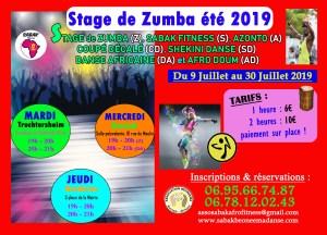 STAGE DE ZUMBA ÉTÉ 2019