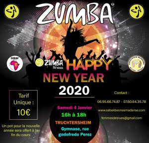 ZUMBA PARTY HAPPY NEW YEAR À TRUCHTERSHEIM