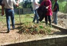 Voluntarios limpian y acondicionan Monumento a Santiago Rodríguez en la comunidad, El Cantón.